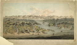'An elevated view of the Islands of Bombay and Salsette, with the surrounding country'. Aquatint by J.S. Barth, published by Robert Cribb, London, 1803 394